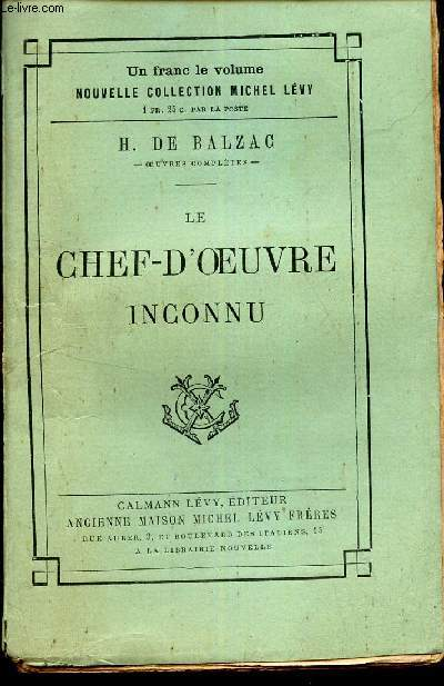 LE CHEF D'OEUVRE INCONNU.