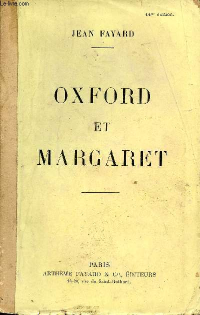 Oxford et Margaret