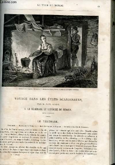 Le tour du monde - nouveau journal des voyages - livraison n°031 et 32 - Voyage dans les Etats scandinaves par Paul Riant.