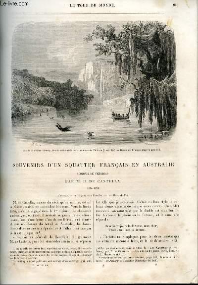 Le tour du monde - nouveau journal des voyages - livraison n°058,59 et 60 - Souvenirs d'un squatter français en Australie (colonie de Victoria) par H. de Castella (1854-1859).