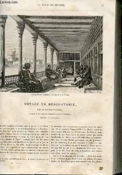 Le tour du monde - nouveau journal des voyages - livraison n°082 et 83 - voyage en Mésopotamie par Eugène Flandin, chargé d'une mission archéologique à Mossoul (1840-1842).