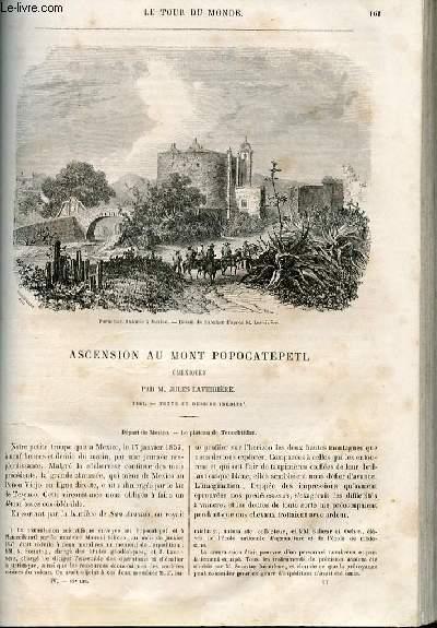 Le tour du monde - nouveau journal des voyages - livraison n°089 - Ascension au Mont Popocatepetl (Mexique ) par Jules Laveirière (1857).