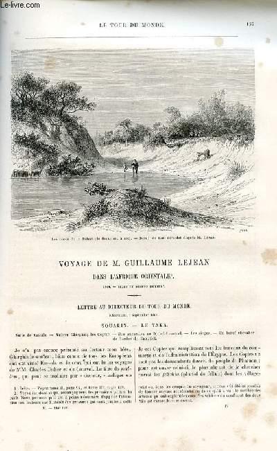 Le tour du monde - nouveau journal des voyages - livraison n°116 - Voyage de guillaume Lejean dans l'Afrique orientale (1860).