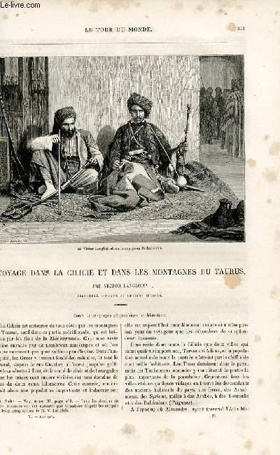 Le tour du monde - nouveau journal des voyages - livraison n°125 - Voyage dans la Cicilie et dans les montagnes du Taurus par Victor Langlois (1852-1853).