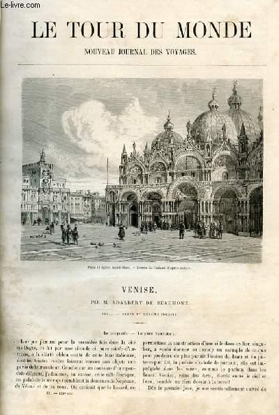 Le tour du monde - nouveau journal des voyages - livraison n°131, 132 et 133 - Venise par Adalbert de Beaumont.