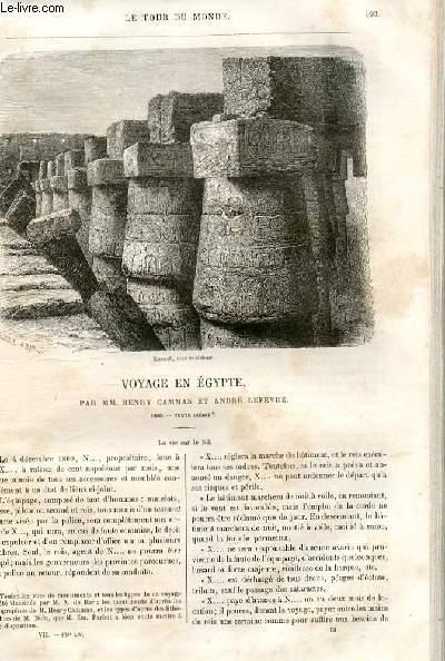 Le tour du monde - nouveau journal des voyages - livraison n°169 et 170 - Voyage en egypte par henry Cammas et André Lefèvre (1860).