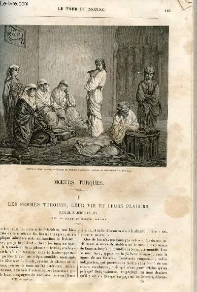 Le tour du monde - nouveau journal des voyages - livraison n°192 - Les femmes turques, leur vie et leurs plaisirs par E. Jérusalémy (1862).