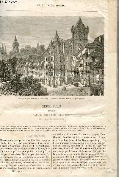 Le tour du monde - nouveau journal des voyages - livraison n°210 et 211 - Nuremberg (bavière) par Edouard Charton.