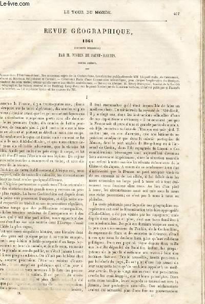 Le tour du monde - nouveau journal des voyages - Revue géographique.