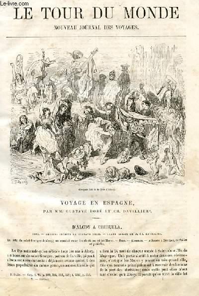 Le tour du monde - nouveau journal des voyages - livraison n°235 ET 236 - Voyage en Espagne  par Gustave Doré et Ch. Davillier (suite).