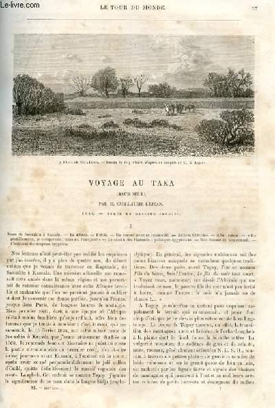 Le tour du monde - nouveau journal des voyages - livraison n°268, 269, 270 et 271 - Voyage au Tara (Haute Nubie) par Guillaume Lejean (1864).