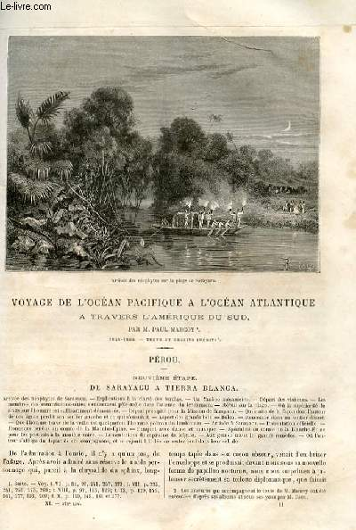 Le tour du monde - nouveau journal des voyages - livraison n°272, 273, 274, 275 et 276 - Voyage de l'Océan Pacifique à l'Océan Atlantique à travers l'Amérique du Sud par Paul Marcoy (1848-1860) - Pérou, neuvième étape.