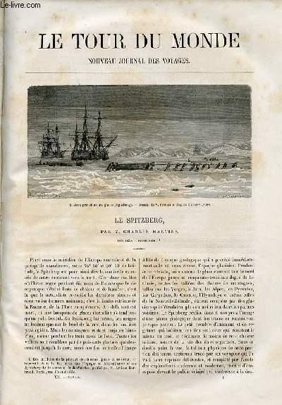 Le tour du monde - nouveau journal des voyages - livraison n°287 et 288 - Le Spitzberg par Charles Martins (1838-1839).