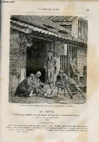 Le tour du monde - nouveau journal des voyages - livraison n°359,360 et 361 - Le Japon par Aimé Humbert, ministre plénipotentiaire de la Confédération Suisse (1863-1864).