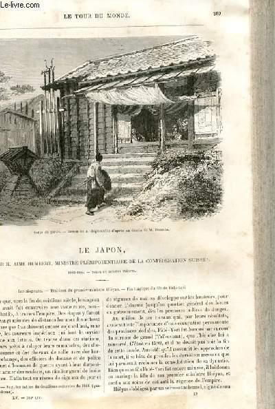 Le tour du monde - nouveau journal des voyages - livraison n°384,385 et 386 - Le Japon par Aimé Humbert, ministre plénipotentiaire de la confédération suisse (1863-1864).