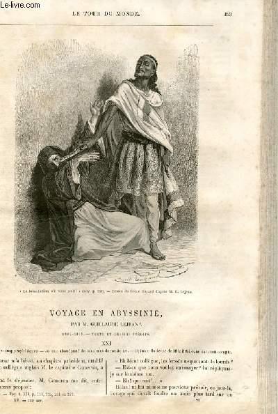 Le tour du monde - nouveau journal des voyages - livraison n°388,389 et 390 - voyage en Abyssinie par Guillaume Lejean (1862-1863).