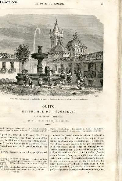 Le tour du monde - nouveau journal des voyages - livraison n°391 - Quito (république de l'Equateur) par Ernest Charton (1862).
