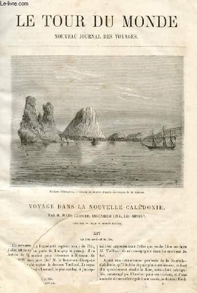 Le tour du monde - nouveau journal des voyages - livraisons n°444,445,446 et 447 - Voyage à la Nouvelle Calédonie par Jules Garnier, ingénieur civil des mines (1863-1866).