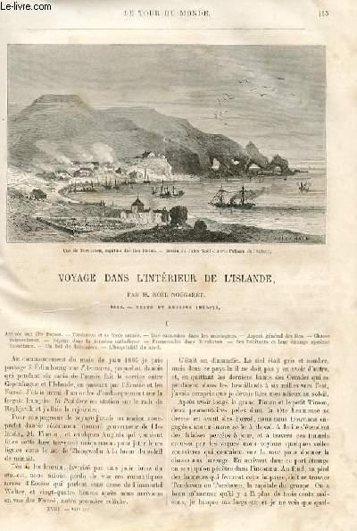 Le tour du monde - nouveau journal des voyages - livraison n°451,452 et 453 - Voyage dans l'intérieur de l'Islande par Noël Nougaret (1866).