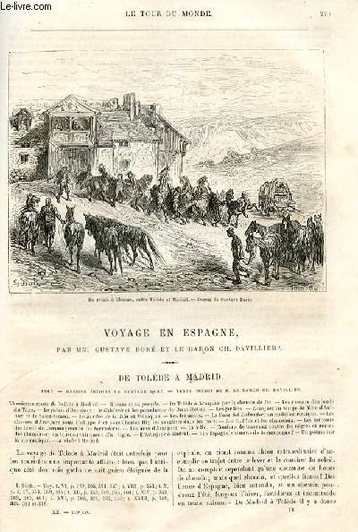Le tour du monde - nouveau journal des voyages - livraison n°513,514,515 et 516 - Voyage en espagne par Gustave Doré et le Baron Ch. Davillier.