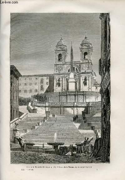 Le tour du monde - nouveau journal des voyages - livraison n°532,533,534,535 et 536 - Rome par Francis Wey (1864-1870).