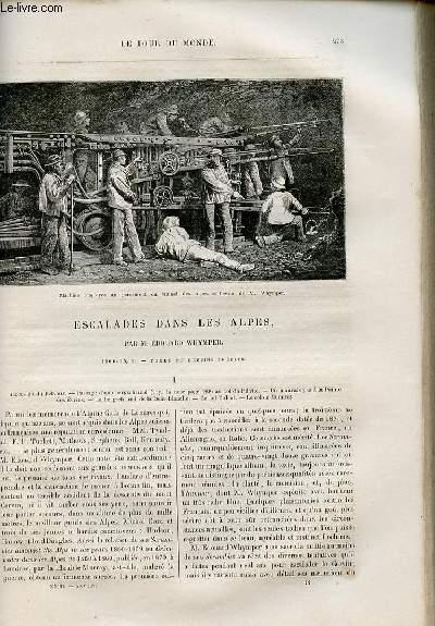 Le tour du monde - nouveau journal des voyages - livraison n°591 et 592 - Escalade dans les Alpes par Edouard Whymper (1860-1869).