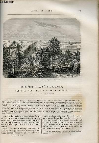 Le tour du monde - nouveau journal des voyages - livraison n°593,594 et 595 - Croisières à la côte d'Afrique par le vice amiral Fleuriot de Langle (1868).