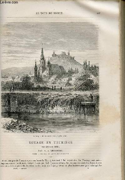 Le tour du monde - nouveau journal des voyages - livraison n°616 et 617 - Voyage en Thuringe (Allemagne du Nord) par A. Legrelle (1869).
