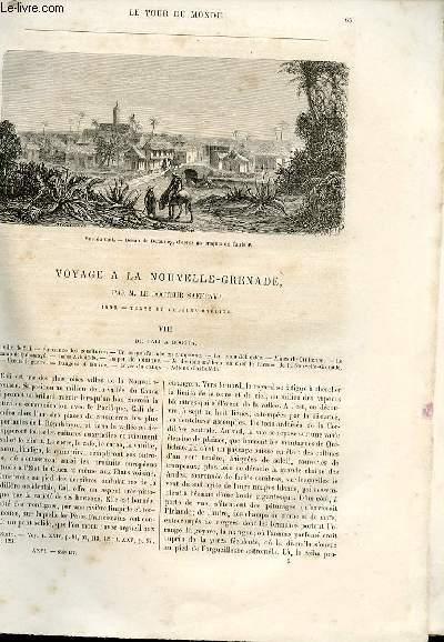 Le tour du monde - nouveau journal des voyages - livraison n°656,657 et 658 - Voyage à la Nouvelle Grenade par le docteur Saffray (1869).