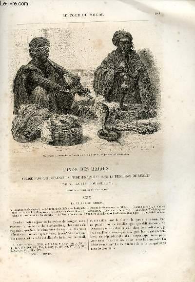 Le tour du monde - nouveau journal des voyages - livraison n°669,670,671,672 et 673 - L'Inde des Rajahs-Voyage dans les Royaumes de l'Inde Centrale et dans la Présidence du Bengale par Louis Rousselet (1864-1868).