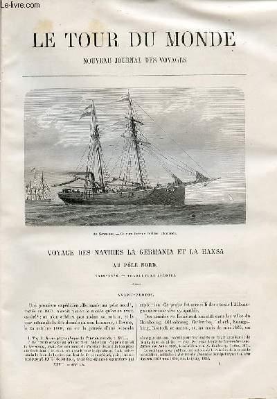 Le tour du monde - nouveau journal des voyages - livraison n°678,679,680 et 681 - Voyage des navires La Germania et la Hansa au pôle Nord (1869-1870).