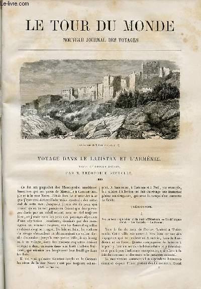 Le tour du monde - nouveau journal des voyages - livraison n°730 et 731 - voyage dans le Lazistan et l'Arménie, texte et dessins de Théophile Deyrolle (1869).
