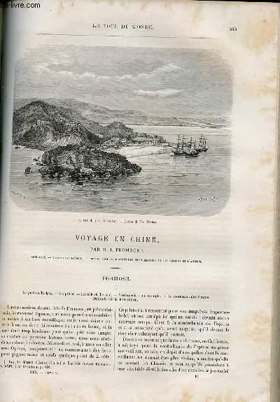 Le tour du monde - nouveau journal des voyages - livraison n°769 et 770 - voyage en Chine par J. Thomson (1870-1872).