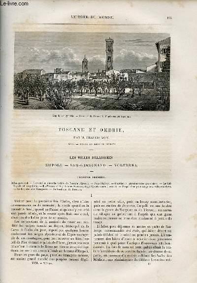 Le tour du monde - nouveau journal des voyages - livraison n°794,795 et 796 - Toscane et Ombrie par Francis Wey (1875).