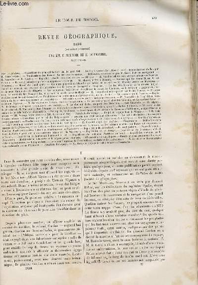 Le tour du monde - nouveau journal des voyages - Revue géographique 1876 (second semestre) par C. Maunoir et H. Duveyrier.