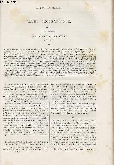 Le tour du monde - nouveau journal des voyages - Revue géographique - second semestre 1877 par C. Maunoir et H. Duveyrier.