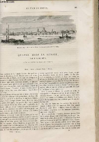 Le tour du monde - nouveau journal des voyages - livraison n°910,911 et 912 - Quatre mois en Russie par F. de Mély (1876).