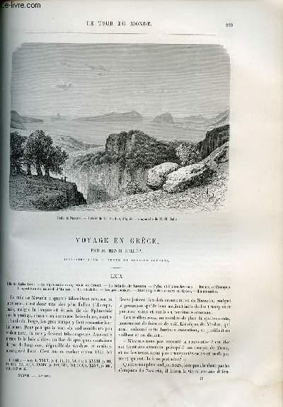 Le tour du monde - nouveau journal des voyages - livraison n°957,958 et 959 - Voyage en Grèce par Henri Belle (1861-1868-1874).