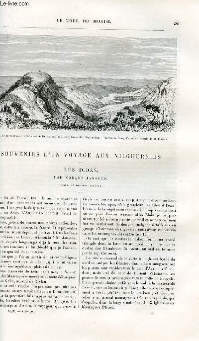 Le tour du monde - nouveau journal des voyages - livraison n°1137 - Souvenirs d'un voyage aux Nilgherries - les Todas par Madame Janssen.
