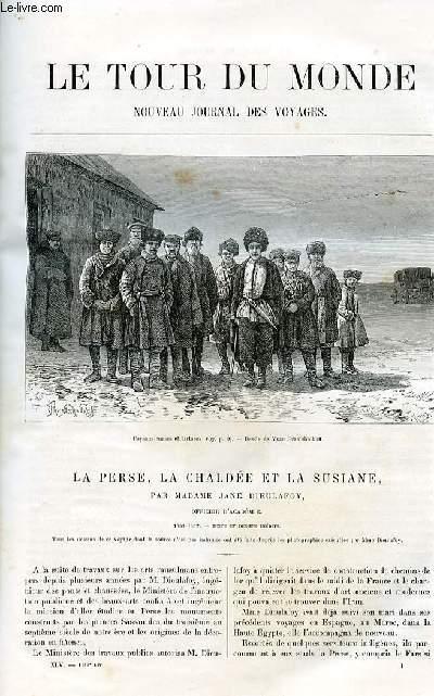 Le tour du monde - nouveau journal des voyages - livraison n°1148,1149,1150,1151 et 1152 - La Perse, la Chaldée et la Susiane par Mme Jane Dieulafoy,officier d'académie (1881-1882).