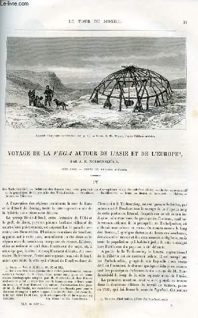 Le tour du monde - nouveau journal des voyages - livraison n°1153 et 1154 - Voyage de la Vega autour de l'Asie et de l'Europe par A. E. Nordenskiöld (1878-1880).