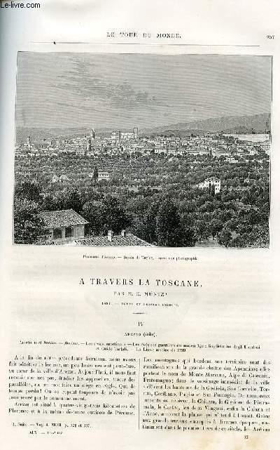 Le tour du monde - nouveau journal des voyages - livraisons n°1164,1165,1166,1167 et 1168 - A travers la Toscane par E. Müntz (1881).