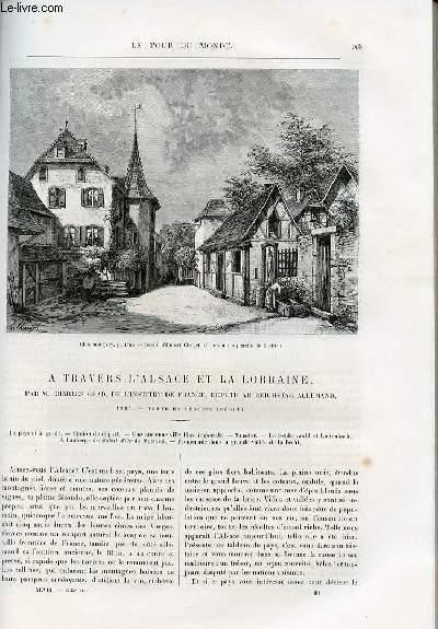 Le tour du monde - nouveau journal des voyages - livraisons n°1235,1236,1237 et 1238 - A travers l'Alsace et la Lorraine par Charles Grand , de l'institut de France, député au Reichstag allemand - 1884.