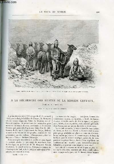 Le tour du monde - nouveau journal des voyages - livraisons n°1239,1240,1241 et 1242 - A la recherche des restes de la mission Crevaux par A. Thouar. 1884.
