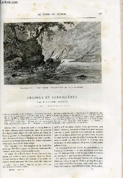 Le tour du monde - nouveau journal des voyages - livraisons n°1247,1248,1249,1250 et 1251 - Amazone et cordillères par Charles Wiener - 1879-1882.