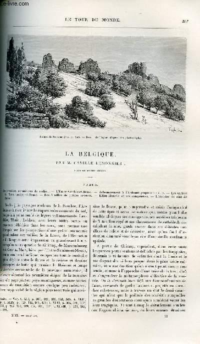 Le tour du monde - nouveau journal des voyages - livraisons n°1273,1274 et 1275 - La Belgique par Camille Lemonnier - Namur.