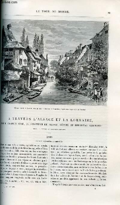Le tour du monde - nouveau journal des voyages - livraisons n°1283, 1284 et 1285 - A travers l'Alsace et Lorraine par Charles Grad de l'institut de France, député au reichstag allemand.