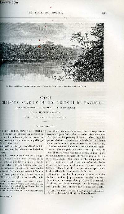 Le tour du monde - nouveau journal des voyages - livraison n°1369 - Voyage aux châteaux favoris du roi Louis II de Bavière, Neu-Schwanstein, Linderhof et Herrenchiemsef par Hugues Krafft (1886).