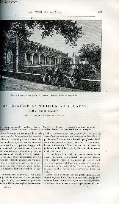 Le tour du monde - nouveau journal des voyages - livraison n°1373,1374 et 1375 - Ma dernière expédition au Yucatan par Désiré Charnay (1886).