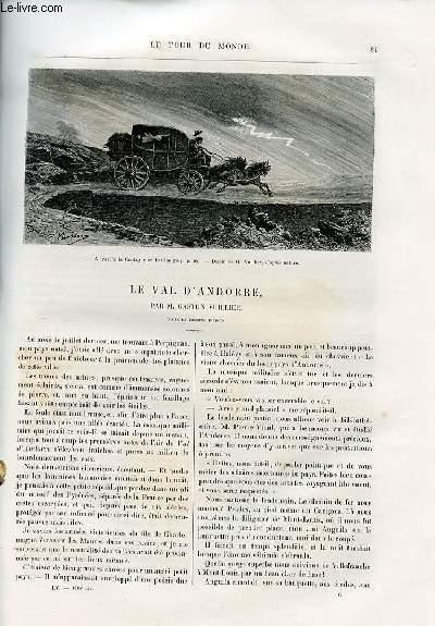 Le tour du monde - nouveau journal des voyages - livraison n°1414 et 1415 - Le Val d'Andorre par Gaston Vuillier.
